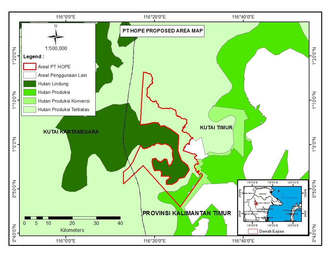 PT HOPE concession and surrounding areas